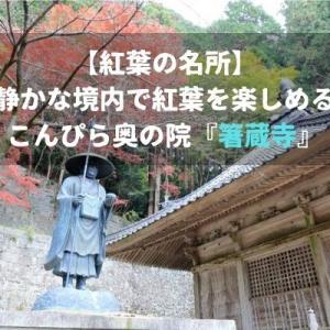【紅葉の名所】静かな境内で紅葉を楽しめるこんぴら奥の院『箸蔵寺』