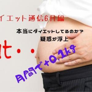 ダイエット通信6月編『本当にダイエットしてるのか疑惑が浮上』月間で+0.1kg