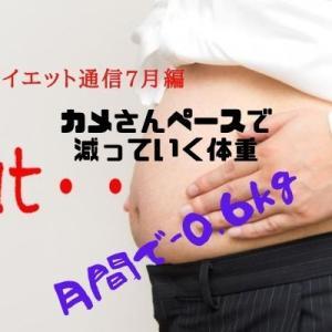 ダイエット通信7月編『カメさんペースで減っていく体重』月間で-0.6kg