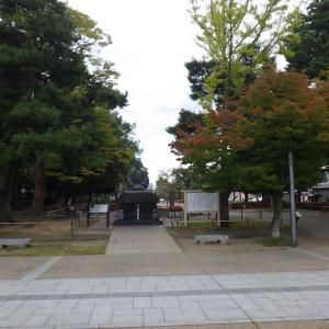 「松が岬公園(米沢城址)」上杉鷹山公の松岬神社です。(^_^)/
