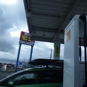 明日に備えて「モダ石油・鵡川セルフ」でガソリンを給油しました。(^_^)/