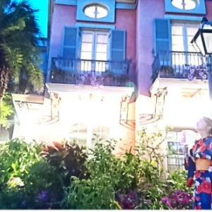 七夕ディズニーの垂れ幕が可愛すぎて思わず写メ