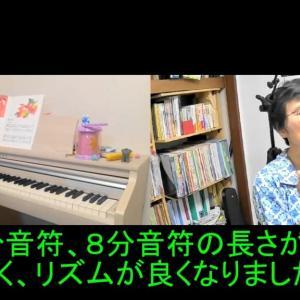 【動画あり】Mちゃんやりました、ピアノの練習の成果です。