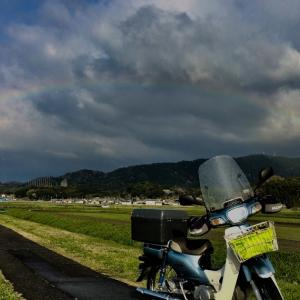 やっと三重県津市では、桜が満開に(^o^) スーパーカブ110でバイトの途中で