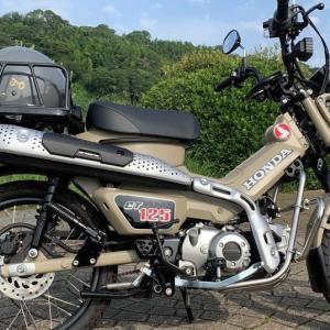 新型ハンターカブCT125の自転車用リアキャリアが気になる(p_-)
