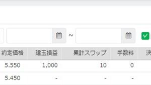 手動トラリピ、知らぬ間に成立で1000円ゲット♪