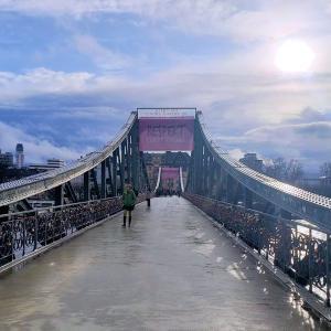 フランクフルトのアイゼルナー シュテグ (鉄の橋)