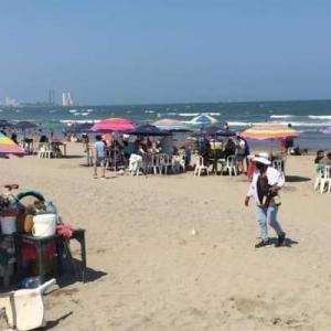 【コロナは?】賑わうベラクルスのビーチ