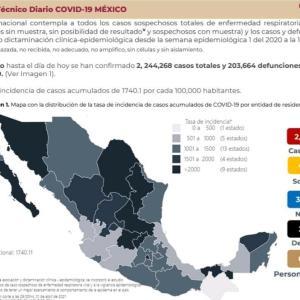 ※4/1更新【4/1〜】メキシコのコロナ感染者数の推移