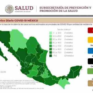 ※8/1更新【8/1〜】メキシコのコロナ感染者数の推移  ※第3波中