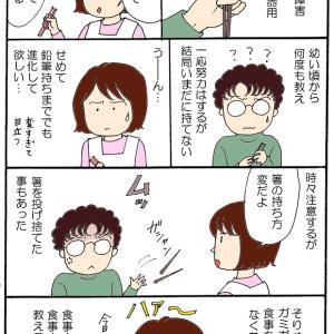 箸の持ち方(2)長男の場合