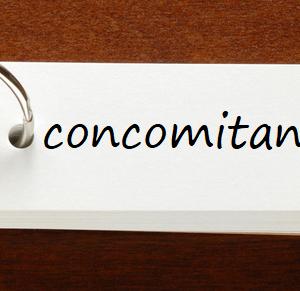 英検1級レベルの単語と例文 — concomitant