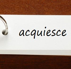 英検1級レベルの単語と例文 — acquiesce