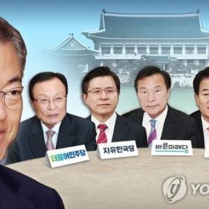 文大統領と与野党5党代表による会合【和訳付き】