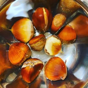 山栗の栗ご飯と干し野菜のお味噌汁