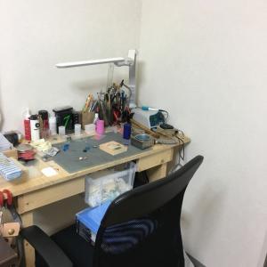 作業スペース拡大作戦 棚を作る