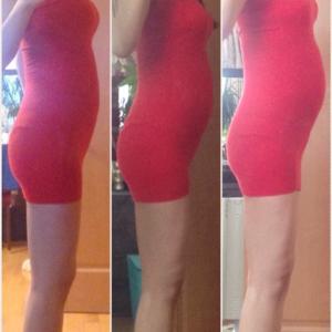27W0D 妊娠7ヶ月4週 体型変化の画像記録4