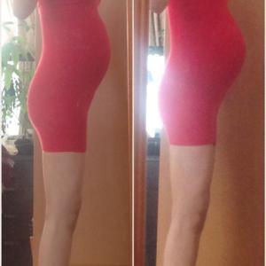 34w3d 妊婦健診⑨ / 体型変化記録 / 体重+3.3kg