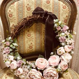 お花のリース、届きました(*´∇`*)