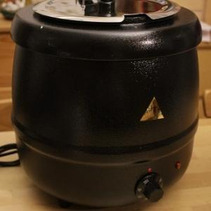 スープ温め器とキッチンの計画