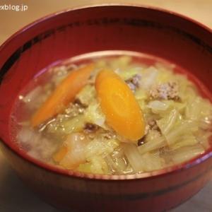 白菜と挽き肉のスープ