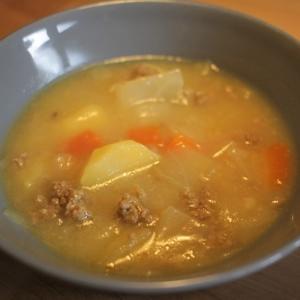 挽き肉スープのバリエーション例