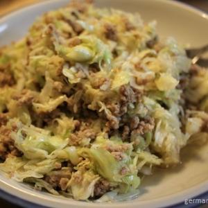 キャベツ&挽き肉サラダ