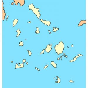 ギリシャ・キクラデス諸島地図をつくりました!