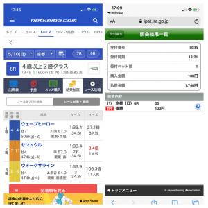 【的中】5.10 京都8R 回収率1,000%!