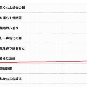 俳句ポスト365兼題蝉「並選」入選