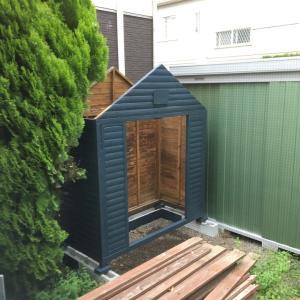 物置小屋の屋根、アスファルトシングルに初チャレンジ!