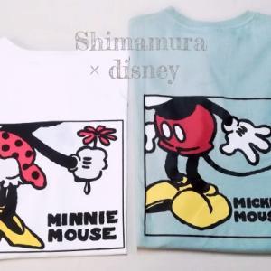 【しまむら】【ディズニー】ミッキーミニーバックプリントTシャツ