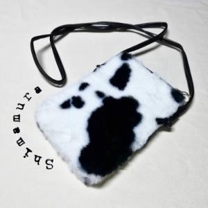 【しまむら】カウ柄ミニポシェットショルダーバッグ