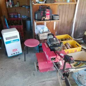 10月28日 あんのん芋の収穫準備2&野菜の在庫整理や片付け作業