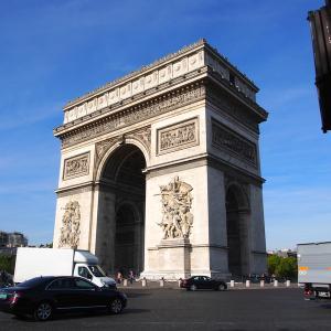2015年フランスの旅(1)出発・凱旋門に立つ