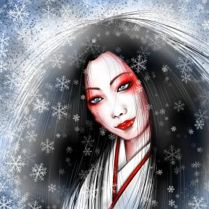 萬蔵の百鬼夜行『雪女2』