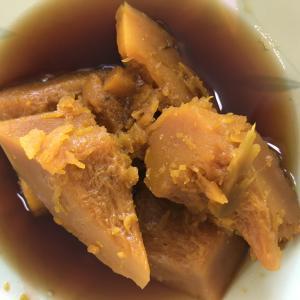 カボチャ煮と国産豚肩ロース生姜炒め
