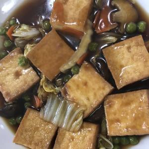 豆腐の甘酢あんかけ