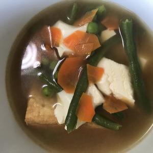 きぬこし豆腐と揚げ豆腐汁