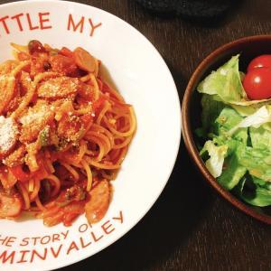 【料理】 夜ご飯はナポリタン