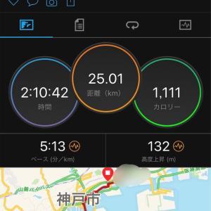やっとこさ25km