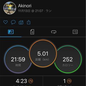 【神戸4日前】5kmペース走!からの、ちょい飲み