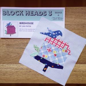 Moda Block Heads ハウスのアップリケ