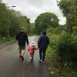 家族散歩。