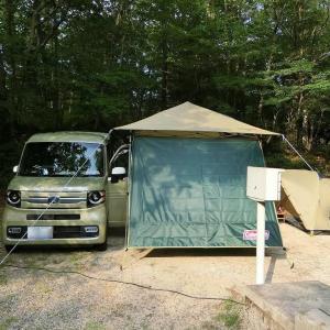 ピラーレスなN-VANはキャンプの設営が超ラク&快適!