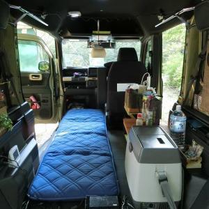 N-VANに車中泊ベッドを!コーナンの「省スペース敷布団」