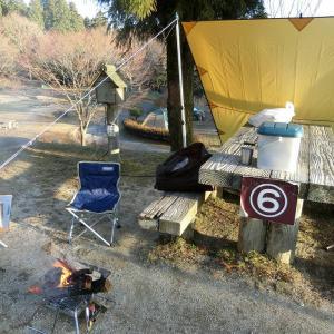 冬季にお得な「野呂山キャンプ場」。電源付きで焚き火等