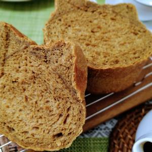手ごねで豆乳珈琲食パン♪ チキンカツ♪♪