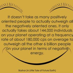 バシャール:約144,000人の人々が毎秒 約180,000サイクルの周波数を発していれば…