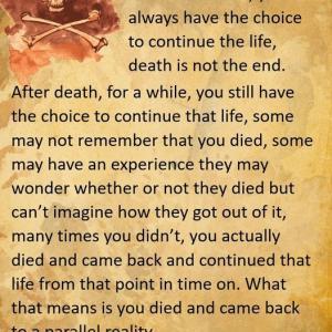 バシャール:死んだあと しばらくの間は その人生を続けるという選択肢があります